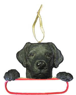 Black Labrador Personalized Christmas Ornament