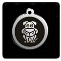 Red Dingo Dog Tags with Bone Icon