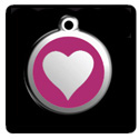 Red Dingo Dog Tags with Heart Design